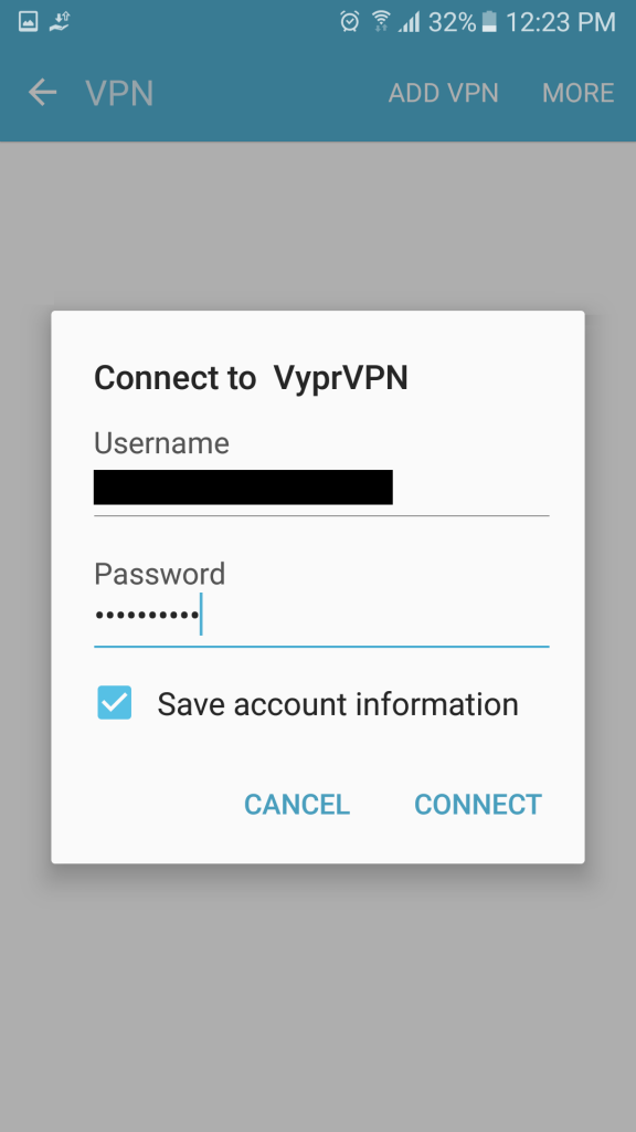 android vpn 设定