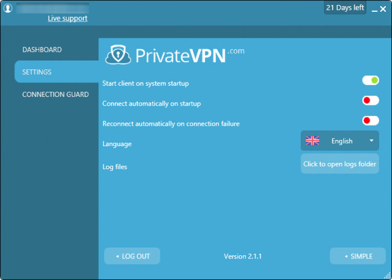 private vpn 设定